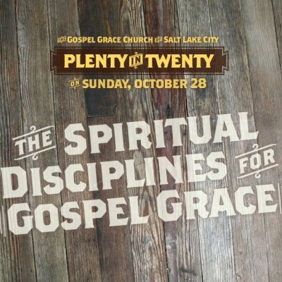Spiritual Disciplines for Gospel Grace